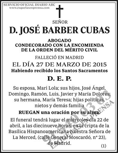 José Barber Cubas